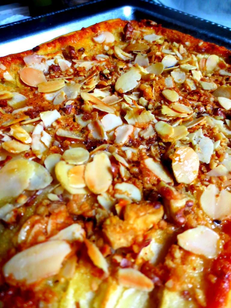 Feuillet e de pommes caram lis es aux fruits secs ultra fine je cuisine donc je suis - Feuillete aux pommes caramelisees ...