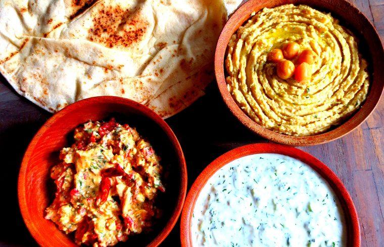 Mezze Grecs Houmous Tzatziki Ktipiti Etc Je Cuisine Donc Je Suis