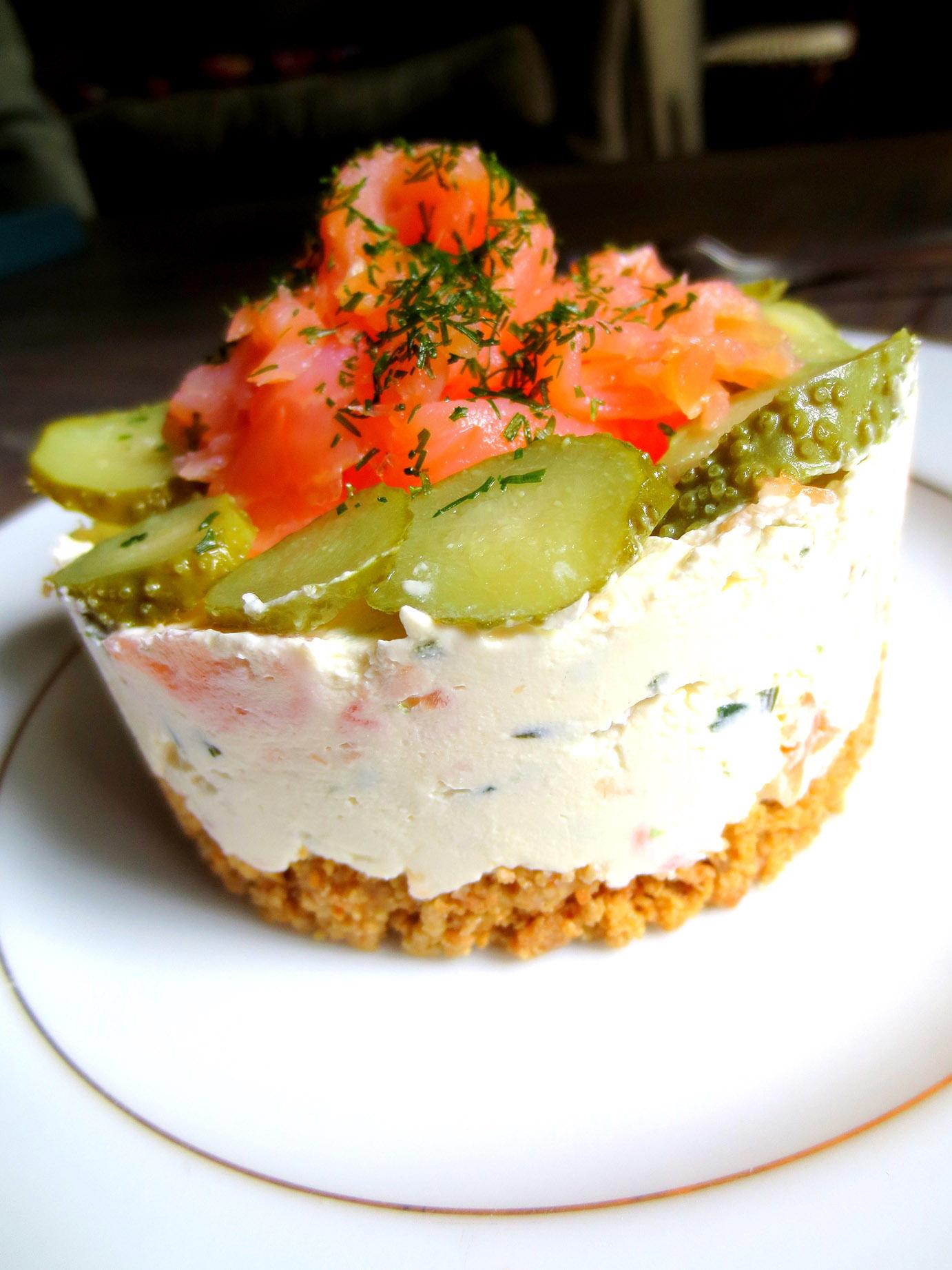 Cheesecake au saumon fum sans cuisson je cuisine donc - Emporte piece oeuf au plat ...