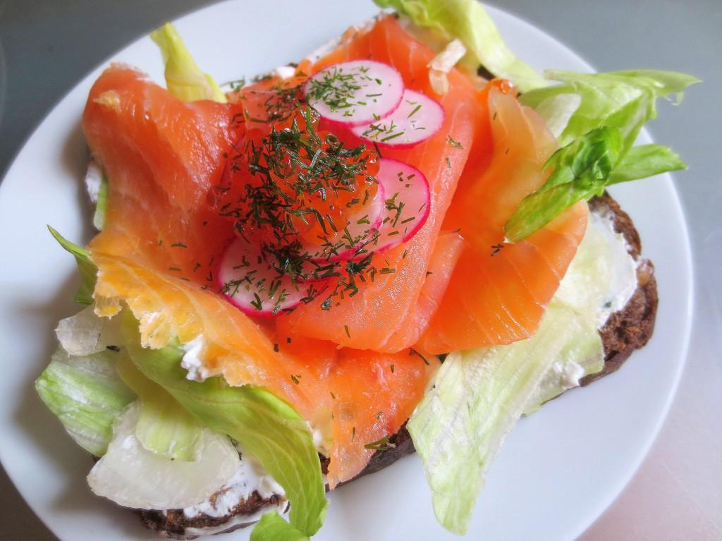 smorrebrod salmon