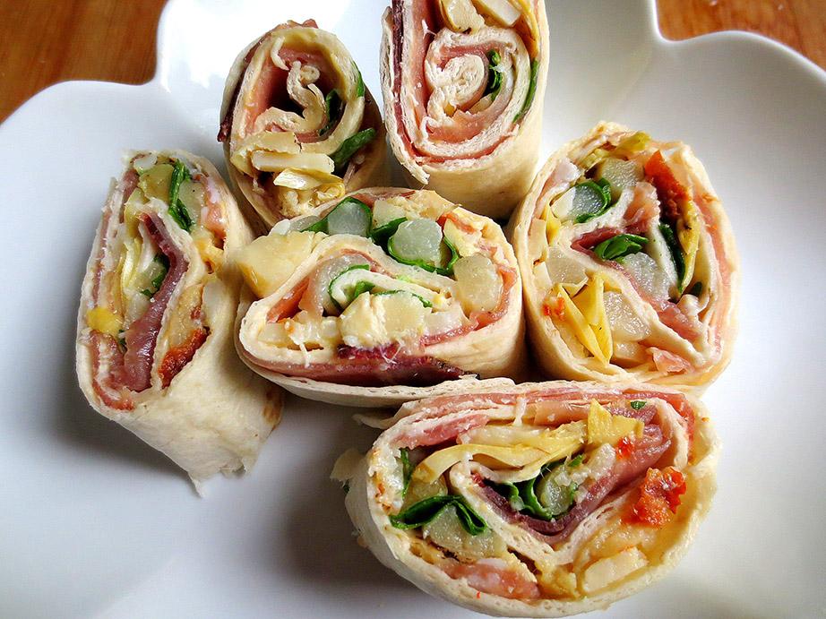 Bouch es gourmandes wraps je cuisine donc je suis - Idee garniture wrap ...