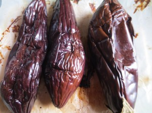 aubergines cuites
