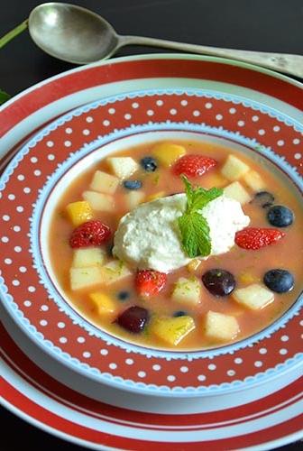 Minestrone de Fruits et sa Glace Vanille